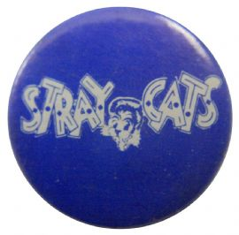 Stray Cats - 'Logo Blue' Button Badge